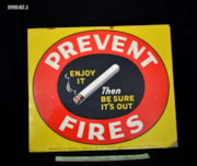 Fire Prevention Sign (artifacts1001)