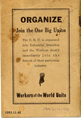 Union Pamphlet (artifacts3684)